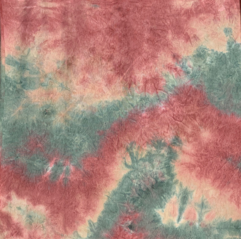 Brushed French Terry Tie-Dye Fabric: Mauve/Sage