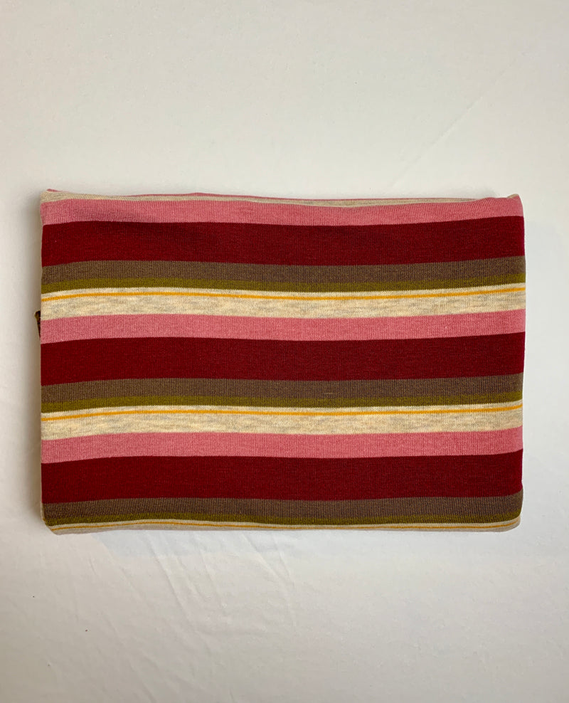 Fabric Piece: Striped Sweater Knit, 2.25 Yards