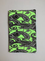 Fabric Piece: Paisley Print on Lime Green ITY, 2 Yards