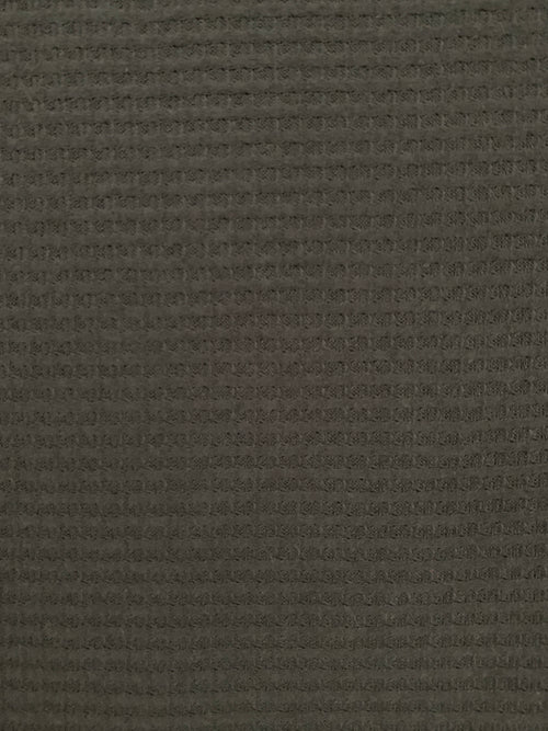 Brushed Spandex Waffle Knit Fabric: Black