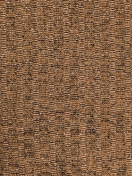 Rib Knit Fabric: Golden Brown with Lurex