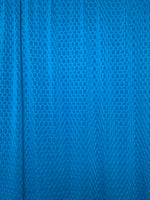 Honeycomb Poly Spandex Fabric: Teal