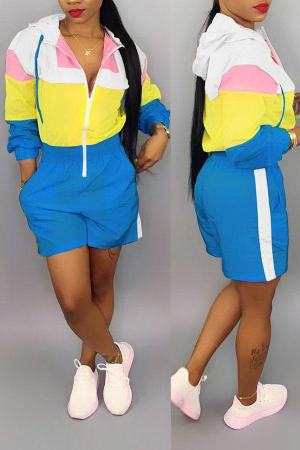Color Block Romper Suit