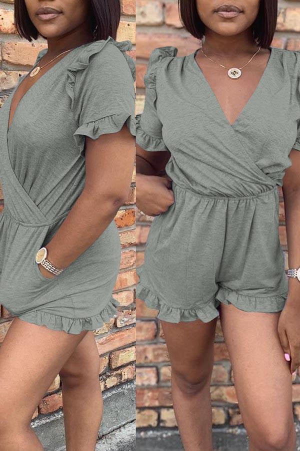 Frill Trim Playsuit