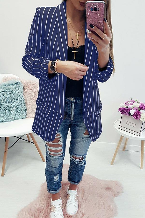 Long Sleeve Striped Suit