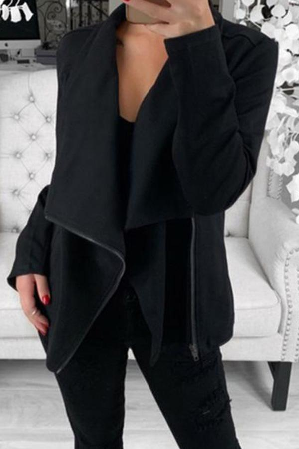 Long Sleeve Zipper Coat