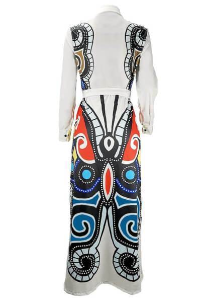 Casual Printed Loose Blending Floor Length Dress