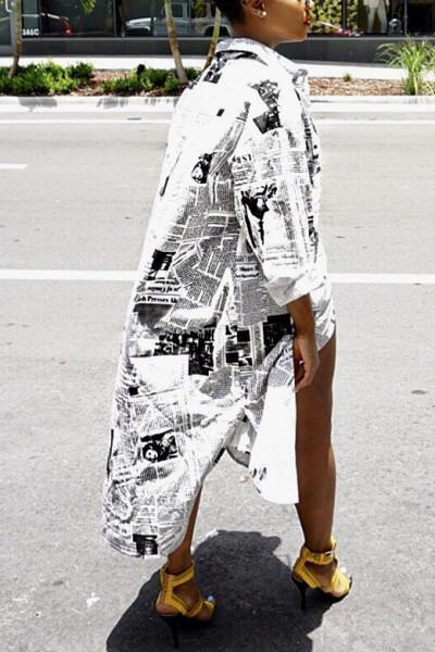 Newspaper Shirt Dress