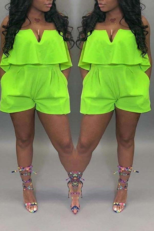 Acid Green Romper