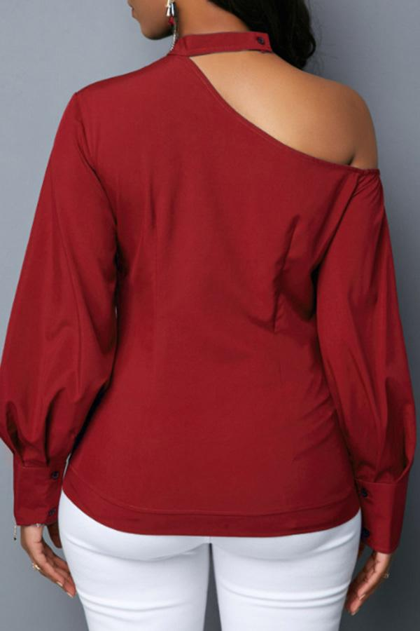 Halter Off Shoulder Button Top