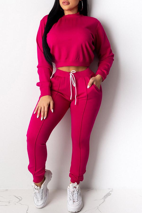 Solid Colour Long Sleeve Top Sets