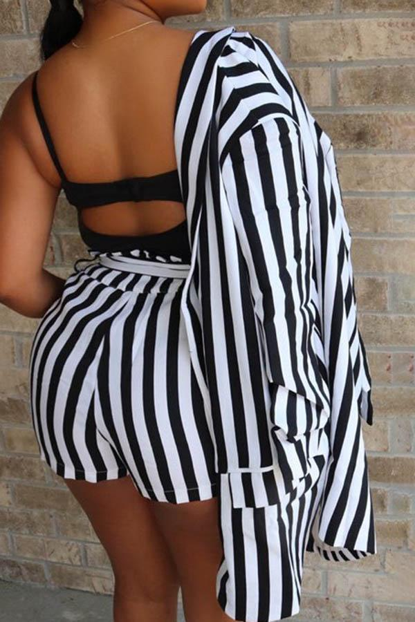 Striped Shorts Suit Two-Piece Sets