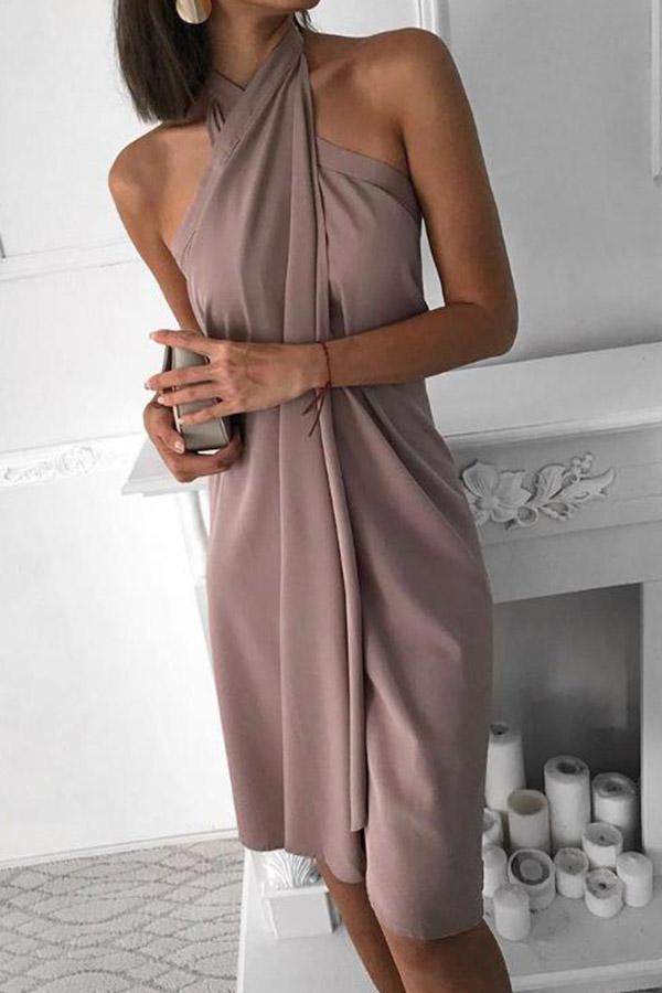 Halter Irregular Dress