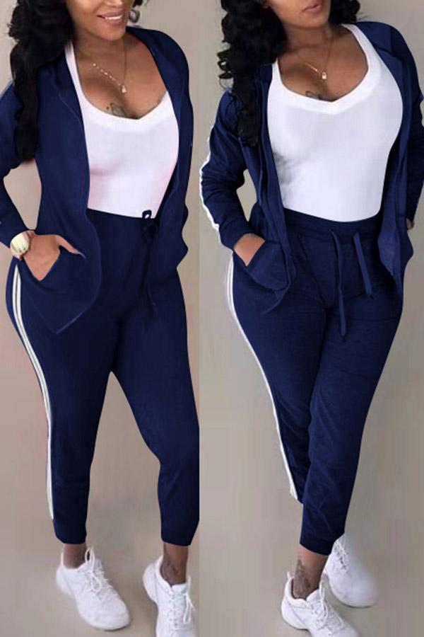 Splicing Coat Trousers Two-Piece Suit