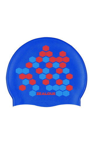 Blue Lethal Silicone Cap - Shop Zealous Training Swimwear