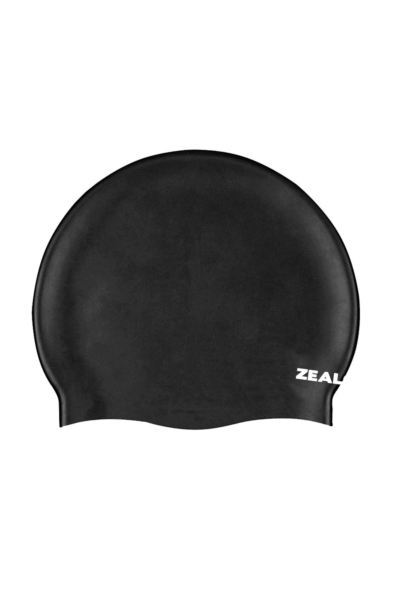 Black Race Cap Silicone Cap - Shop Zealous Training Swimwear