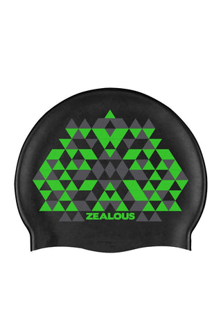 Green Rampage Silicone Cap - Shop Zealous Training Swimwear