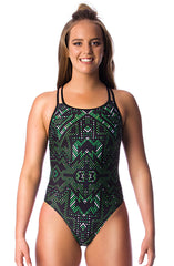 Aztec Empress Ladies Cross Back - Shop Zealous Training Swimwear