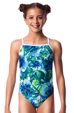 In Bloom Girls Thin Strap - Shop Zealous Training Swimwear