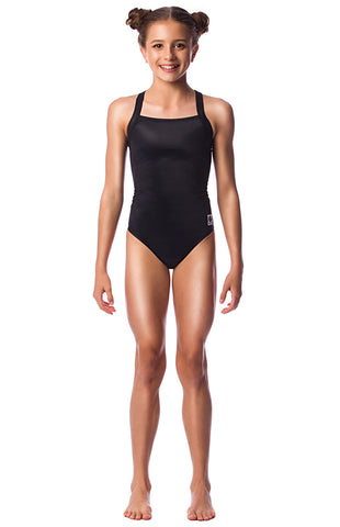 Pitch Black Girls Racers - Shop Zealous Training Swimwear