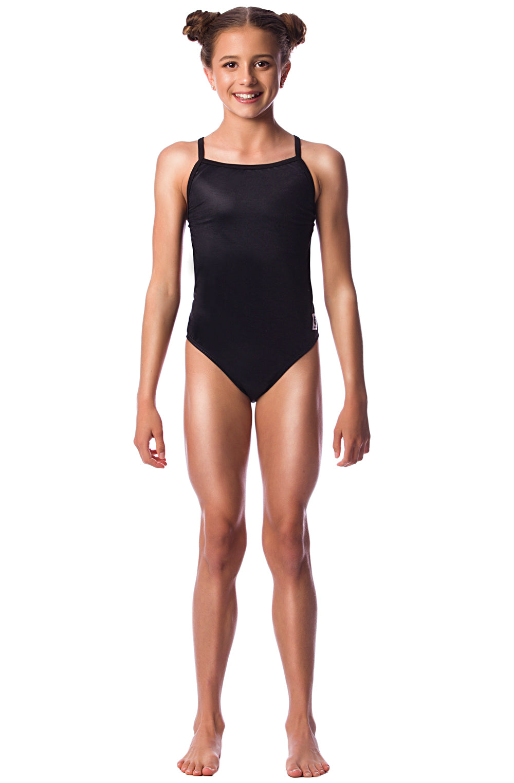 Pitch Black Girls Thin Strap - Shop Zealous Training Swimwear