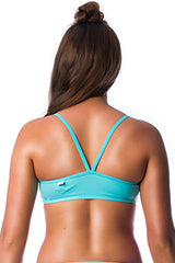 Sea Foam Top Ladies Two Piece - Tops - Shop Zealous Training Swimwear
