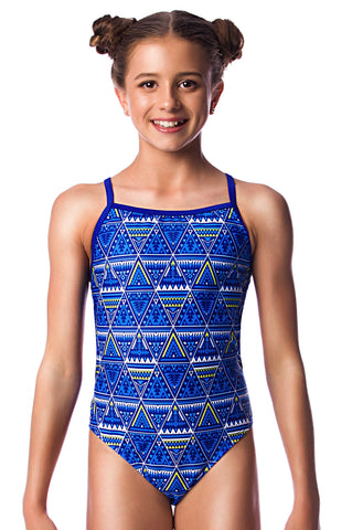 Sun Dancer Girls Thin Strap - Shop Zealous Training Swimwear