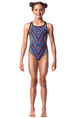 Wind Song Girls Cross Back - Shop Zealous Training Swimwear