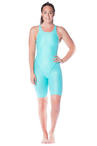 Aqua Blue Racer Ladies Kneelengths - Shop Zealous Training Swimwear