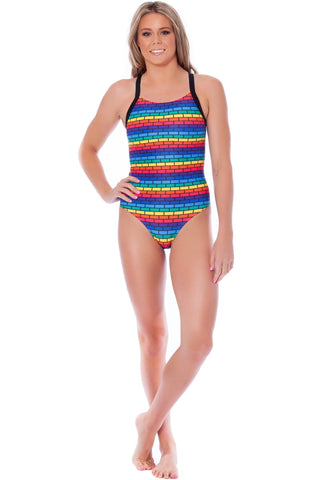 Lullaby Land Ladies Racers - Shop Zealous Training Swimwear