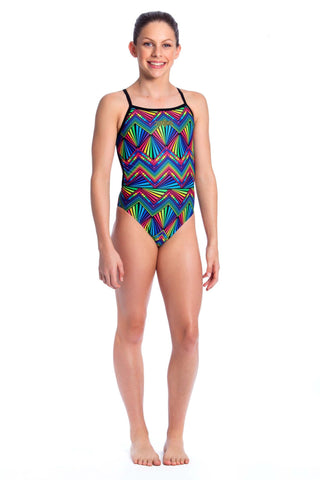 Labyrinth Girls Thin Strap - Shop Zealous Training Swimwear