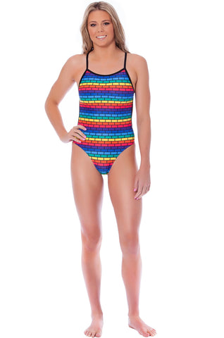Follow Me Ladies Thin Strap - Shop Zealous Training Swimwear