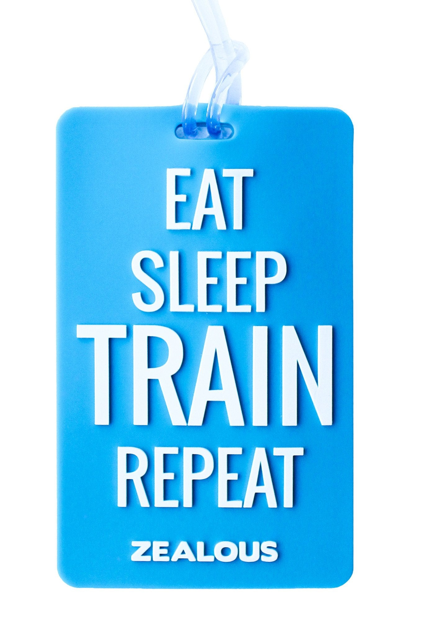Eat Sleep Train Bag Tag - Shop Zealous Training Swimwear