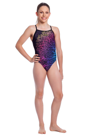 Coral Cluster Girls Thin Strap - Shop Zealous Training Swimwear