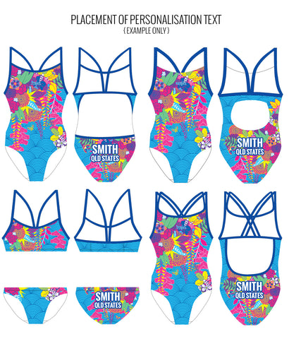 BLOSSOM BLISS - FEMALE Personalised Swimwear - Shop Zealous Training Swimwear