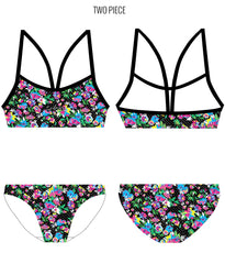FLORAL FANTASY - FEMALE Personalised Swimwear - Shop Zealous Training Swimwear