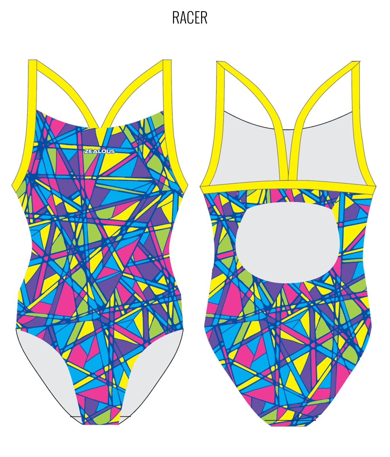 RAINBOW SMASH - FEMALE Personalised Swimwear - Shop Zealous Training Swimwear