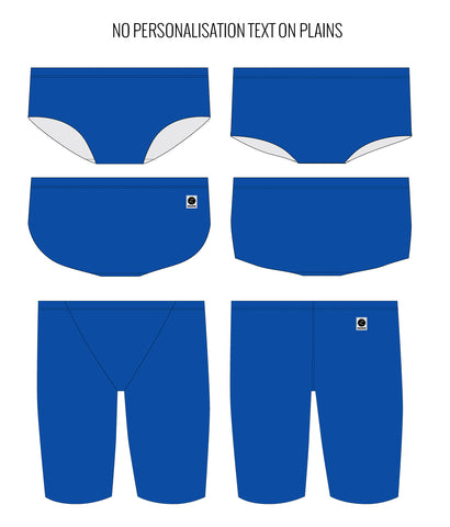 ROYAL BLUE - MALE Personalised Swimwear - Shop Zealous Training Swimwear