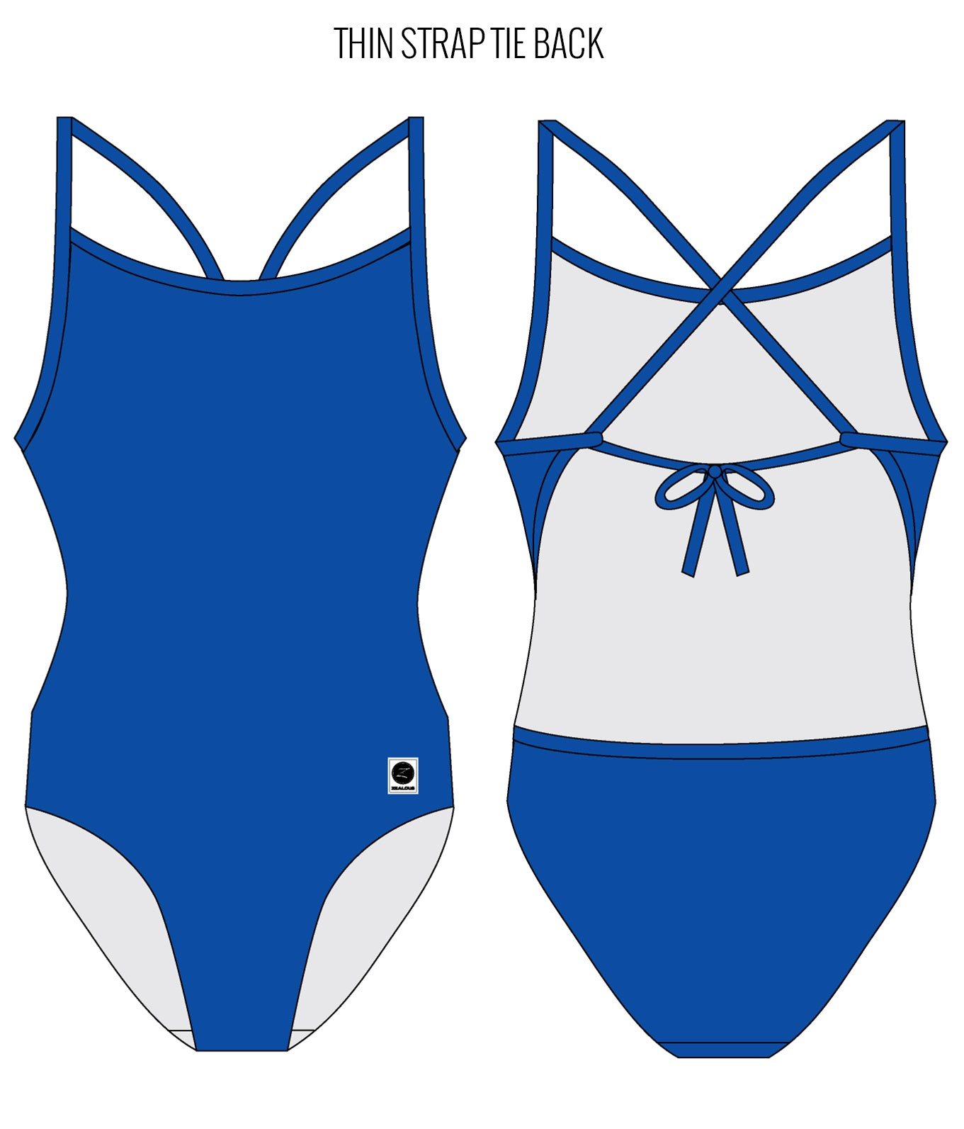 ROYAL BLUE - FEMALE Personalised Swimwear - Shop Zealous Training Swimwear