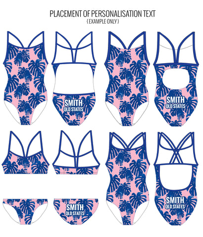 SUNSET BOULEVARD - FEMALE Personalised Swimwear - Shop Zealous Training Swimwear