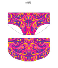 SWINGIN' SWIRLS {PINK/YELLOW} - MALE Personalised Swimwear - Shop Zealous Training Swimwear