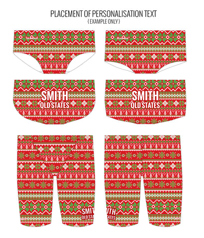 SANTA BABY - MALE Personalised Swimwear - Shop Zealous Training Swimwear