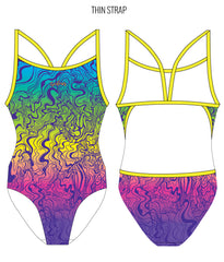 THAT 70'S SUIT - FEMALE Personalised Swimwear - Shop Zealous Training Swimwear