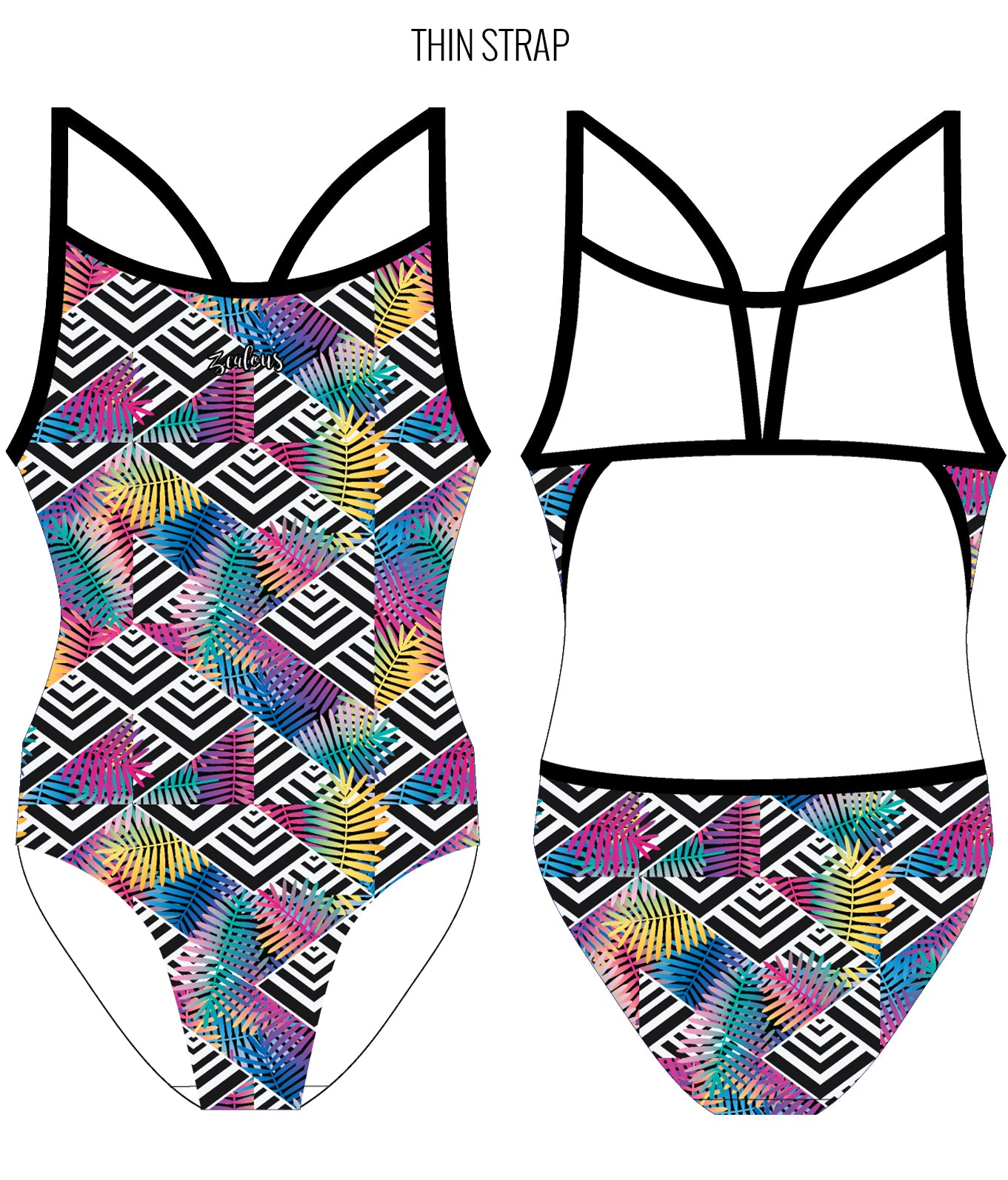 TROPICAL HAZE - FEMALE Personalised Swimwear - Shop Zealous Training Swimwear