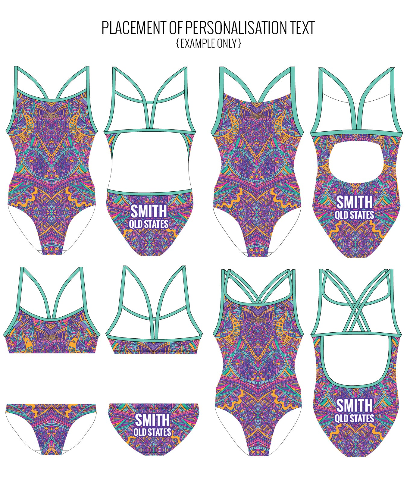 WILD CHILD - FEMALE Personalised Swimwear - Shop Zealous Training Swimwear