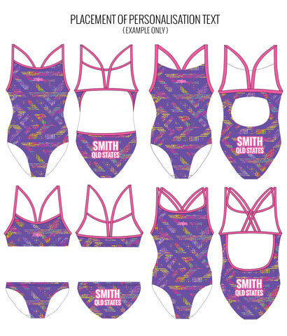 WILDFIRE - FEMALE Personalised Swimwear - Shop Zealous Training Swimwear