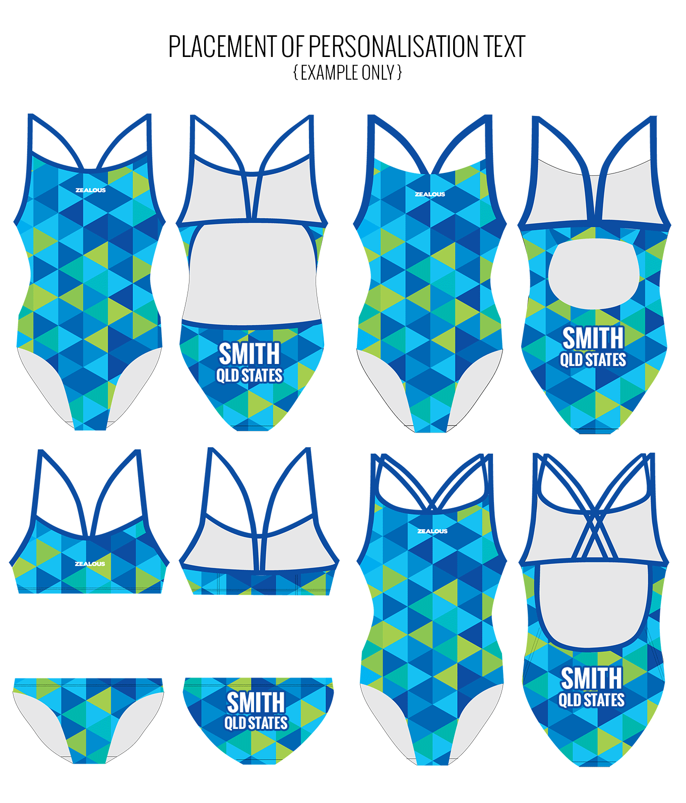 KRYPTONITE - FEMALE Personalised Swimwear - Shop Zealous Training Swimwear
