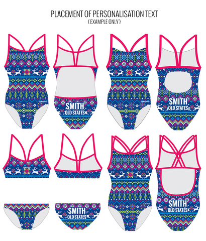 JUST BECLAUS - FEMALE Personalised Swimwear - Shop Zealous Training Swimwear