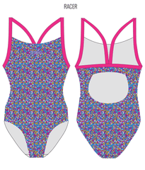 CANDY KISSES - FEMALE Personalised Swimwear - Shop Zealous Training Swimwear