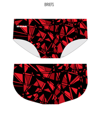 FRACTURED - MALE Personalised Swimwear - Shop Zealous Training Swimwear